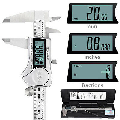 200mm 8'' Inch Electronic Digital Vernier Caliper 4 Test Modes Stainless Steel