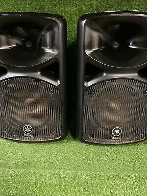 Pair Of Yamaha Portable Pa system Stagepad 400I / 400S Speakers ##208156