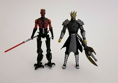 Star Wars Clone Wars Savage Opress Darth Maul Action Figure Lot