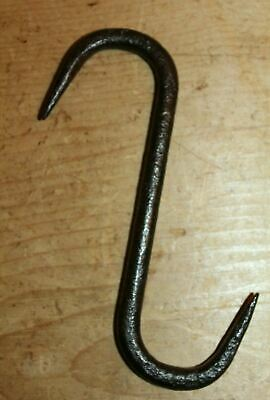 Antique Wrought Iron S Hook Meat Beam Game Hook Butchers Bacon Hook 8 Inches