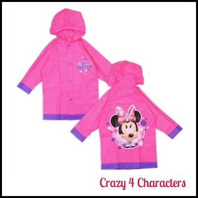 Licensed Minnie Mouse Raincoat Sizes  2 3 4 5 6 7 Birthday Party Christmas