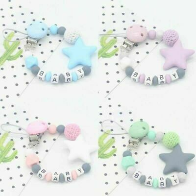 Baby Dummy Soother Clips Teether Teething Pacifier Strap Chain Boys Girls Mam UK