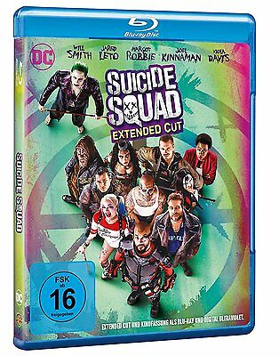Suicide Squad [Blu-ray] Kino. + Extended Cut (NEU/OVP) Margot Robbie, Will Smith