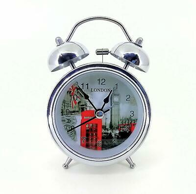 Chrome Plated Vintage Battery Alarm Heavy Sleepers Antique Night Vision Clock