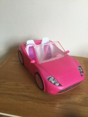 "BARBIE Shocking Pink 13"" GLAM CONVERTIBLE AUTO Mattel 2010 Sports Car Toy"