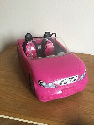 "Barbie Pink 13"" Glam Convertible Mattel 2013 Sport Car Toy Beach Cruiser Retired"