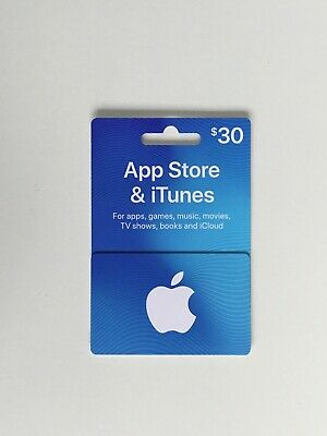 Apple Store & Itunes Gift Card Value $30