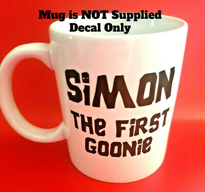 Personalised Mug Cup Custom Text Image Name Birthday Stag Hen Decal Sticker