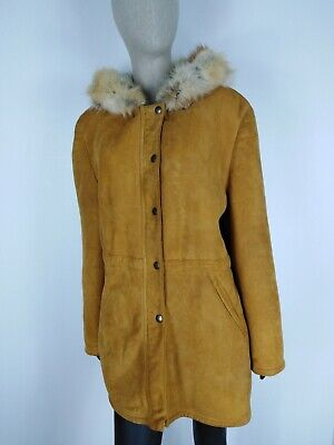 SHEARLING MONTONE SHEEPSKIN Cappotto Giubbotto Jacket  Tg 46 Donna Woman