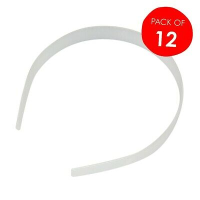 Plain Plastic Self Cover Head Bands Pack of 12 used to create your own design
