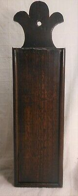 Great Early 19th Century Antique Oak Slidetop Dovetailed Hanging Candle Box