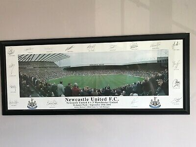 Newcastle United F.C. 2001 Classic Players Signatures - limited edition print.