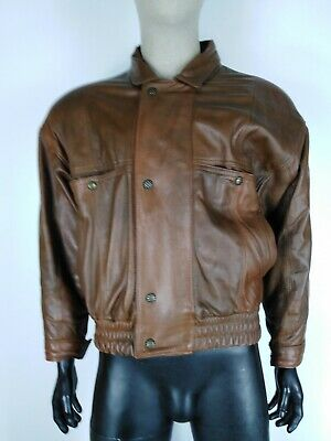 CAPPOTTO VERA PELLE MADE IN ITALY Giubbotto Coat Jacket Giacca Tg L Uomo Man