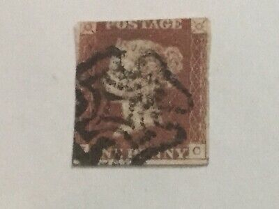 Queen Victoria One Penny Red Postage Stamp Maltese Cross