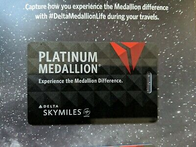 NEW ~ Authentic Delta Airlines Platinum Medallion Luggage Baggage Tag Card