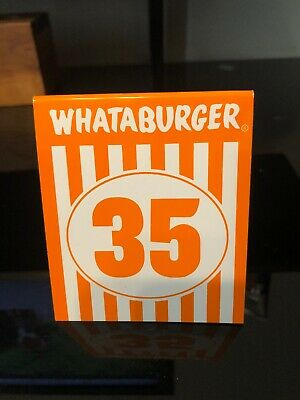 Individual WHATABURGER Restaurant Table Tent Number 35 - Modern Glossy