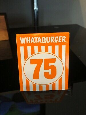 Individual WHATABURGER Restaurant Table Tent Number 75 - Modern Glossy