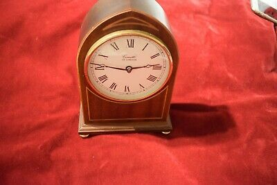 COMITTI OF LONDON WOODEN CASED MANTLE CLOCK LANCET SHAPE Quartz