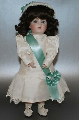 """Antique French German Doll 11"""" Artist Made Reproduction Beautiful"""