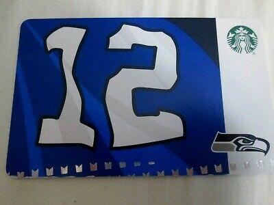 Starbucks Card 2019 SEATTLE SEAHAWKS 12th Man w/ NFL Hologram NEW