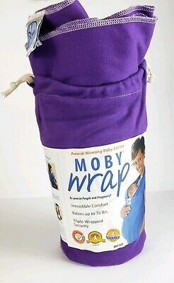 Moby Wrap Purple 100% Cotton Baby Carrier One SIZE up to 35 lbs New