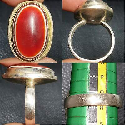 Beautiful Old Agate stone Stunning Unique Ring   # 31
