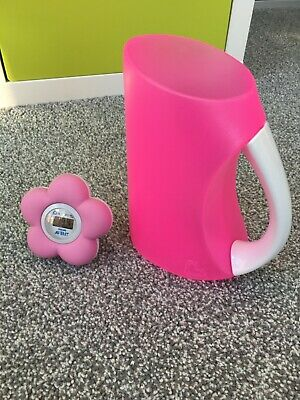 Baby Bath Accessories Thermometer Hair Jug Pink Philips Avent Munchkin