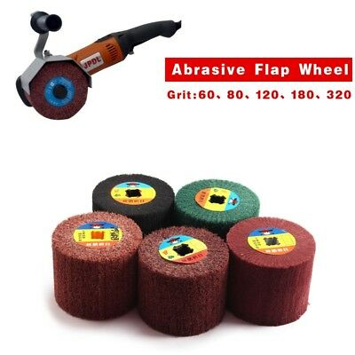 Non-woven Abrasive Flap Wheel Wire Drawing Polishing Burnishing Grit #60-#600