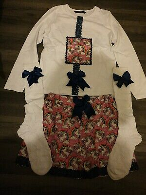 7 Yrs Girls Hand Made unicorn Outfit, Unique spanish, traditional, gypsey, retro