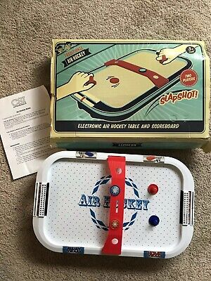 Electronic Air Hockey Table 2 Players 9 Plus Years 53 X 33 Cm + Instructions