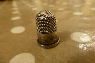 Antique Hallmarked Solid Silver Thimble Charles Horner Chester No.7
