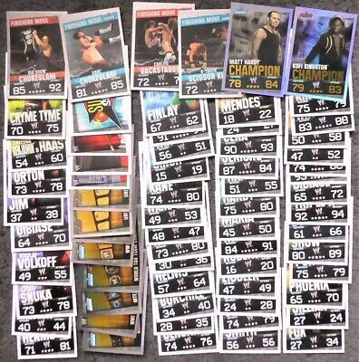 Lot of 60+ Topps Slam Attax Evolution Wrestling Trading Cards & 2 Champion Cards