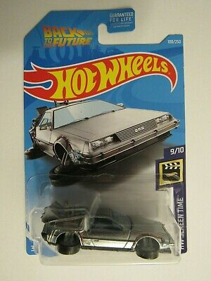 HW Back To The Future Time Machine Super Treasure Hunt With Protector Case.