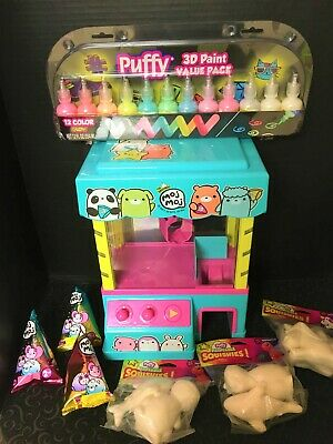 Moj Moj Claw Machine LOT + Unopened Blind Boxes + Puffy Paint + Paint Squishies