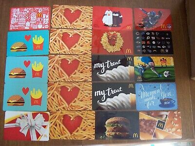 McDonald's Collectible Gift Cards - LOT of 20 - Used NO VALUE NFL, Holiday etc.