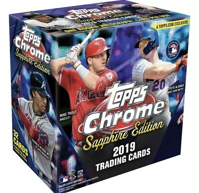 2019 Topps Chrome Sapphire Sealed Box Online Exclusive 🔥🔥🔥one Rc Auto Per Box