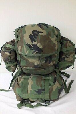 US MILITARY MOLLE II RIFLEMAN BACKPACK SET WOODLAND CAMO 20 Pieces