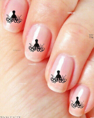 Steampunk Octopus Nail Art Cosplay Water Decals Stickers Manicure Salon Polish
