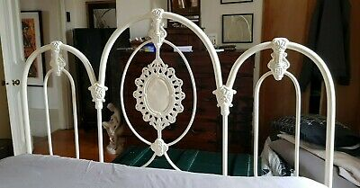Antique cast iron double bed