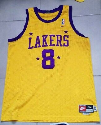 Mens Nike Sewn Kobe Bryant #8 LA Lakers Jersey Size Adult 2XL throwback Retro