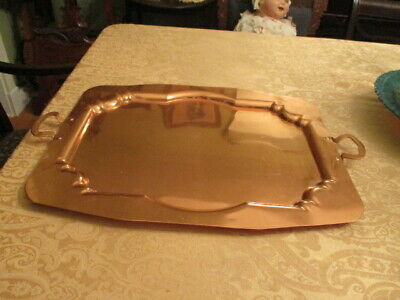 Extra Large Copper Heavy Tray 25X17 In Very Good Condition Hammered Hand Made