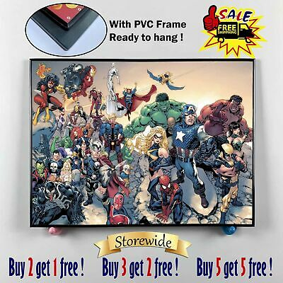 """12""""x16""""Super hero PVC HD Canvas prints Painting Home Decor Picture Room Wall art"""