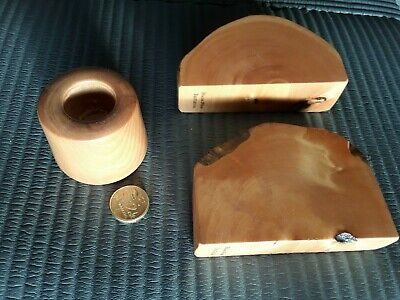 Tasmanian Huon Pine Candle Holder and Letters Cards Holder