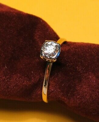 18ct Gold Diamond Solitaire Engagement Ring with Val $2250