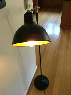 Simple & Stylish Black Floor Lamp (vintage-like globe included)