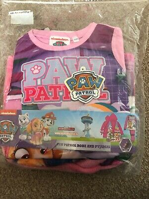 Girls Paw Patrol Pyjamas And Robe Set By Nickelodeon Age 18-24 Months BNWT