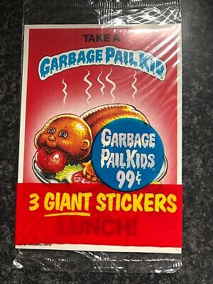 Rare 0-222-0-7 1987 UK Garbage Pail Kids 5th Series WRAPPER WITHOUT Text