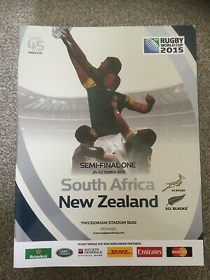 9760 - Rugby World Cup 2015 - South Africa v New Zealand Programme 24/10 RWC