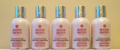 5 x Molton Brown Pomegranate and Ginger Hand Lotion 100ml each