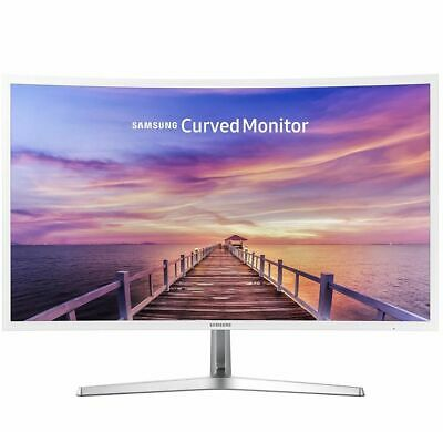 """NEW Samsung 32"""" Curved Monitor Wide Angle LCD HD Glossy White1year full warranty"""